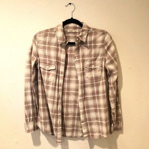 Old Navy Earth Tone Plaid Shirt